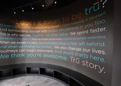 Interior Signage Design for Tru Ride Spin Studio